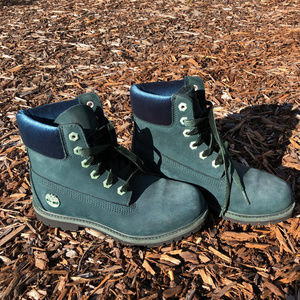 Timberland Special Edition Teal Boots with Velvet